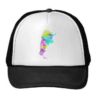 Whimsy Watercolor Argentina Map Trucker Hat