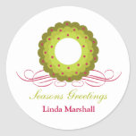 Whimsy Wreath with Berries Holiday Sticker