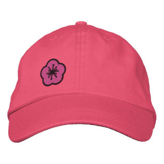WhimsyMonger Pink Daisy Customizable embroidered Embroidered Baseball Cap