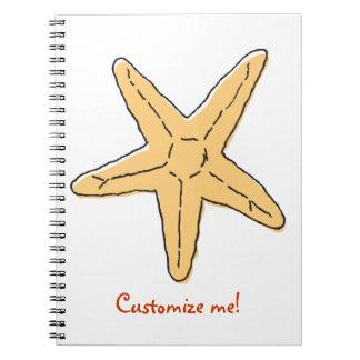 WhimsyMonger Starfish Note Book - customizable