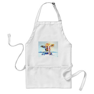 Whimzical Cow Adult Apron