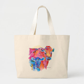 Whimzical Cow Large Tote Bag