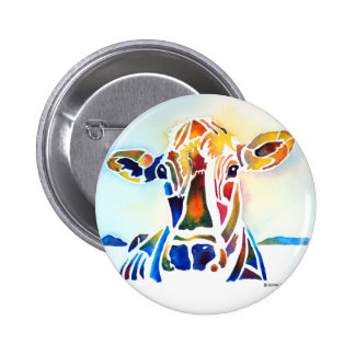 Whimzical Cow Pinback Button