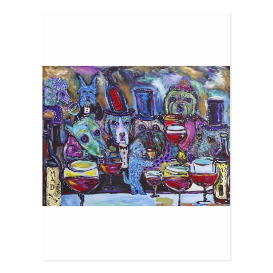 Whine Bar -36x48 acrylic on canvas Postcard