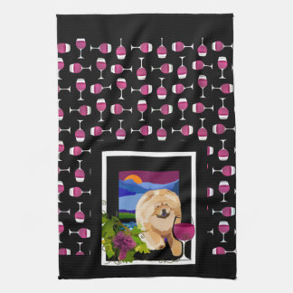 WHINE Country chow kitchen or dog show towel