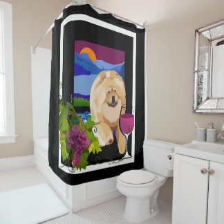 WHINE COUNTRY shower curtain