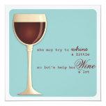 """Whine or Wine Milestone Birthday Party Invitation 5.25"""" Square Invitation Card"""
