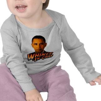 Whiner-En-Jefe de Barack Obama Camisetas