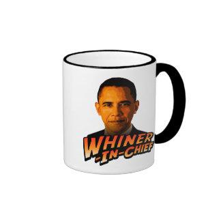 Whiner-En-Jefe de Barack Obama Tazas