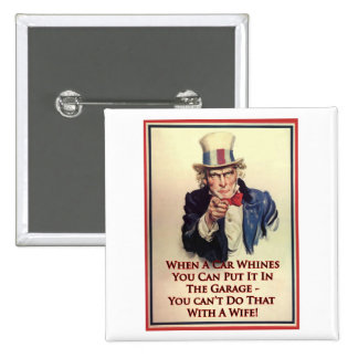 Whinging Uncle Sam Poster Pinback Buttons