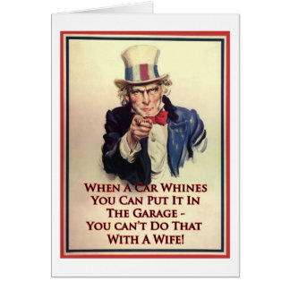 Whinging Uncle Sam Poster Card