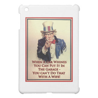 Whinging Uncle Sam Poster iPad Mini Covers