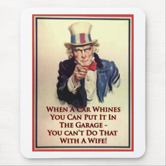 Whinging Uncle Sam Poster Mouse Pad