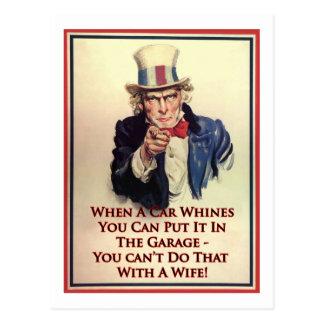 Whinging Uncle Sam Poster Postcard