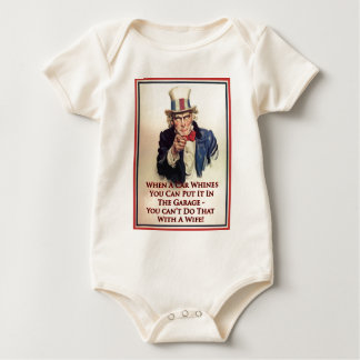 Whinging Uncle Sam Poster Romper