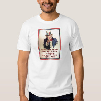 Whinging Uncle Sam Poster T Shirt