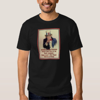 Whinging Uncle Sam Poster T-shirt