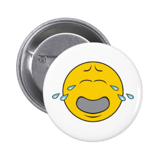 Whining Crying Smiley Face 2 Inch Round Button