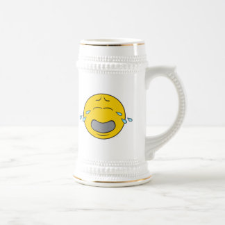 Whining Crying Smiley Face Beer Stein