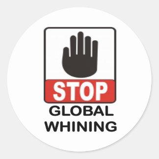 WHINING.jpg GLOBAL Pegatina Redonda