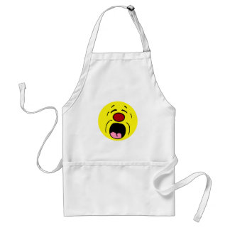 Whining Smiley Face Grumpey Adult Apron