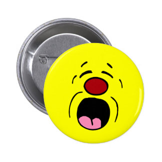 Whining Smiley Face Grumpey Button