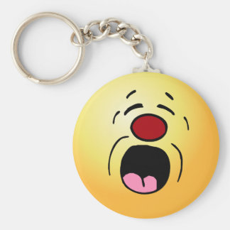 Whining Smiley Face Grumpey Keychain