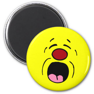 Whining Smiley Face Grumpey Magnet