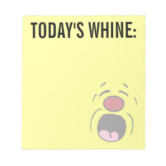 Whining Smiley Face Grumpey Notepad