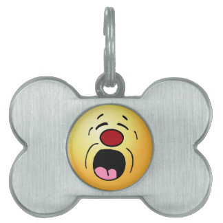 Whining Smiley Face Grumpey Pet Tag