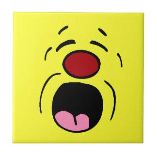 Whining Smiley Face Grumpey Tile