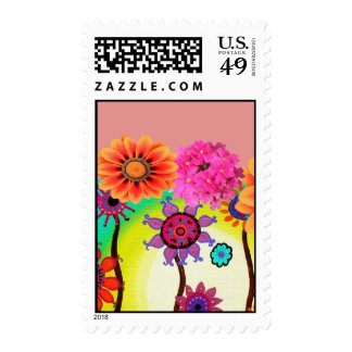 Whiniscal Flowers by Prisarts Postage Stamp