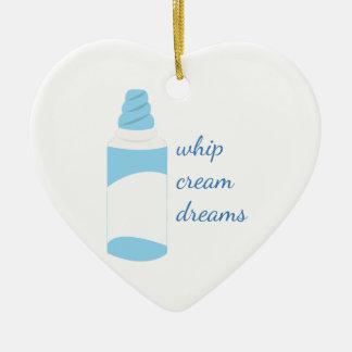 Whip Cream Dreams Ceramic Ornament