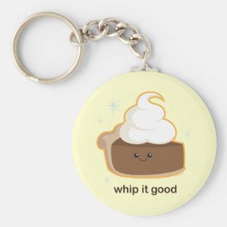 Whip It! Basic Round Button Keychain