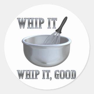 Whip It! Classic Round Sticker