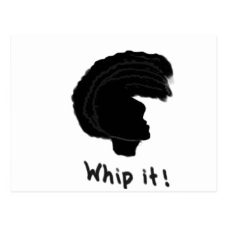 Whip it postcard
