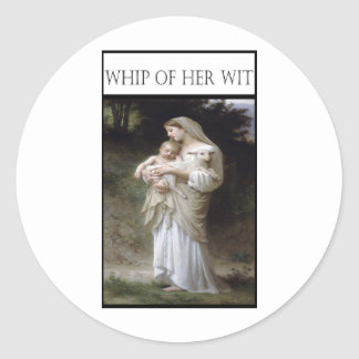 WHIP OF HER WIT -Innocence Classic Round Sticker