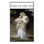 WHIP OF HER WIT -Innocence Post Cards