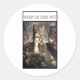 WHIP OF HER WIT -Jeanne au bucher Classic Round Sticker