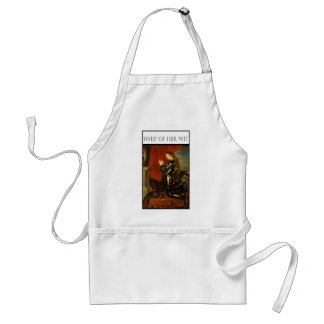 WHIP OF HER WIT- Joan de Arc Adult Apron