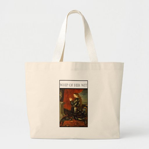 WHIP OF HER WIT- Joan de Arc Jumbo Tote Bag