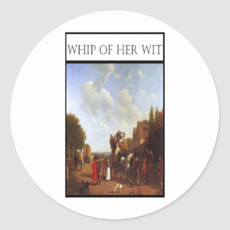 WHIP OF HER WIT- Portsmouth Road Classic Round Sticker
