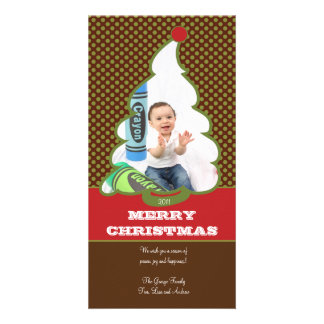 Whipped Tree Holiday Photo Card