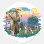 Whippet (#12) round sticker