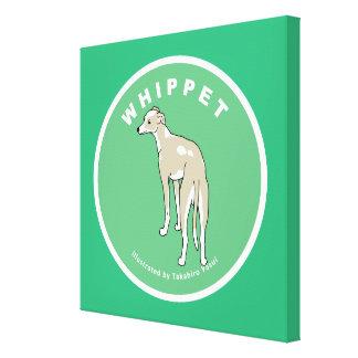 "Whippet Art 24"" x 24"" Canvas Print"
