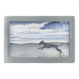 Whippet At The Beach Belt Buckle