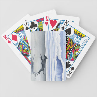 Whippet At The Beach Bicycle Playing Cards