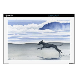 17' Laptop Skin for Mac & PC with Whippet Phone Cases design