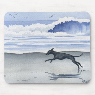 Whippet At The Beach Mouse Pad