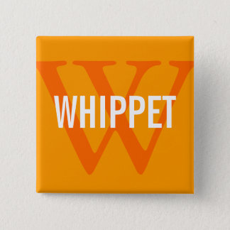 Whippet Breed Monogram Design Button